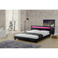 cadre lit 160x200 achat cadre lit 160x200 pas cher rue du commerce. Black Bedroom Furniture Sets. Home Design Ideas