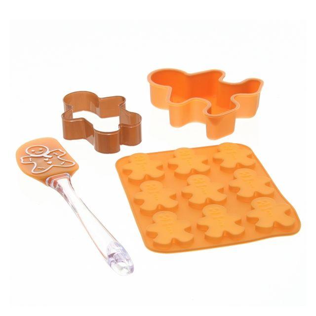 MAISON FUTEE Set pâtisserie pour enfant Petit bonhomme en pain d épice