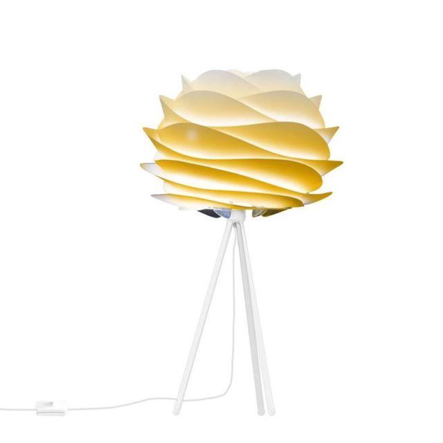 Carmina lampe à poser Trépied Blanc Ø32cm jaune sahara tie and dye Vita Copenhagen designé par William Ravn