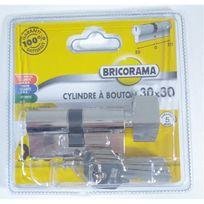 Bricorama - Cylindre de porte 30 x 30 mm barillet 3 clés Canon à bouton