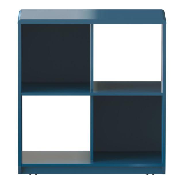 alina look meuble de rangement turquoise roulettes 4 cases