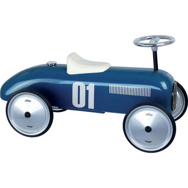 Vilac Porteur voiture vintage bleu pétrole