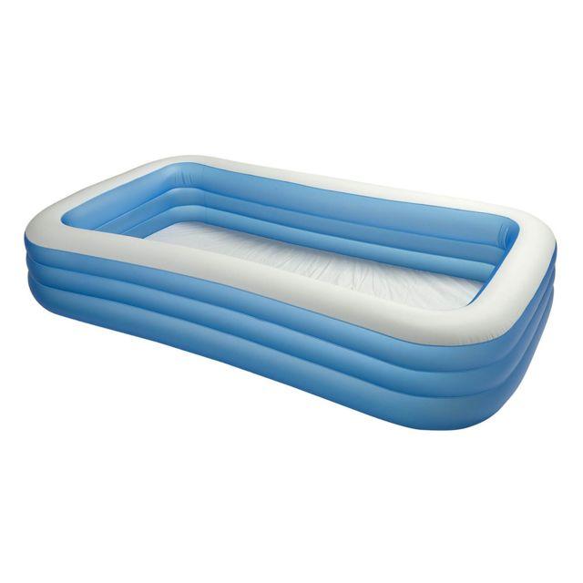 intex piscine rectangulaire family 305x183cm bleu blanc. Black Bedroom Furniture Sets. Home Design Ideas