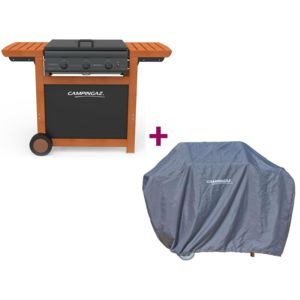 Campingaz barbecue gaz ad la de 3 woody housse pas for Housse barbecue campingaz