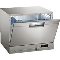 SIEMENS - lave-vaisselle compact 6 couverts a+ pose-libre inox - sk26e821eu