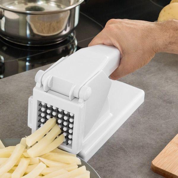 Totalcadeau Appareil coupe frites facile lames en acier inoxydable patate