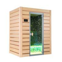France Sauna - Hammam Traditionnel Multi Vap Mosaïque Verte 3 Places - Livré Et Installé