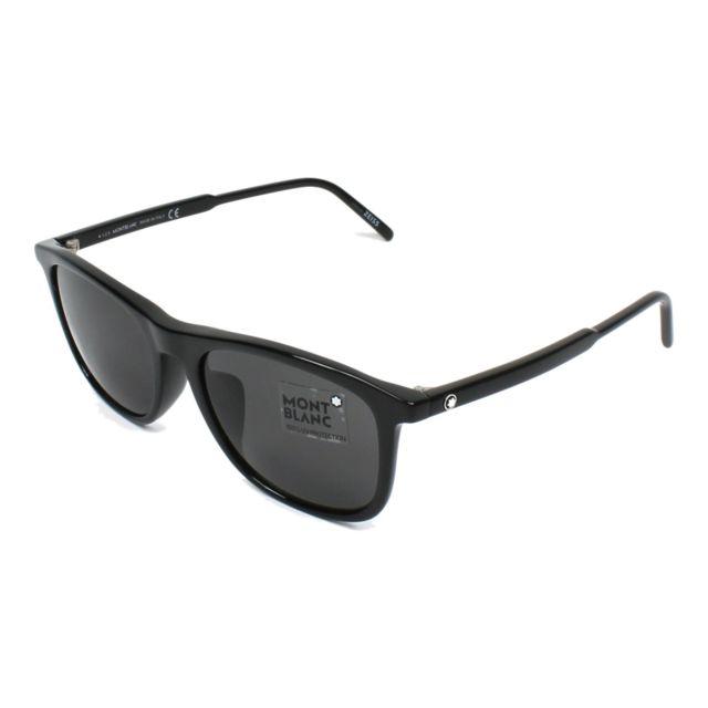 magasin en ligne 9ecb2 1282d Lunettes de soleil Mont Blanc Mb-593-S 01A Homme Noir