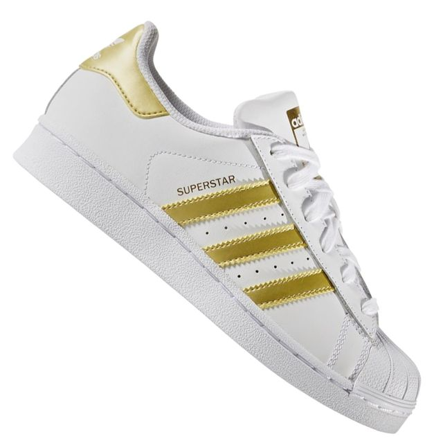 Adidas originals - Baskets - Superstar Foundation J Bb2870 - Blanc Gold Metal