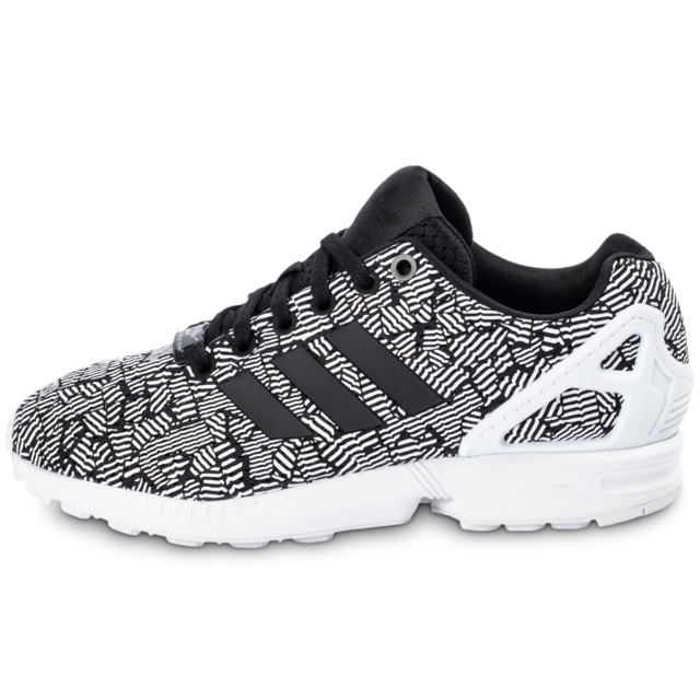 low priced ee95d a3a3a Adidas originals - adidas Originals Zx Flux Print Blanche Et Noire - Baskets  Femme