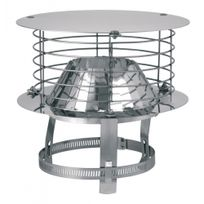 Ten - aspirateur statique adaptable varinox acier inoxydable diamètre : 125/153 réf. 403002 - 403002