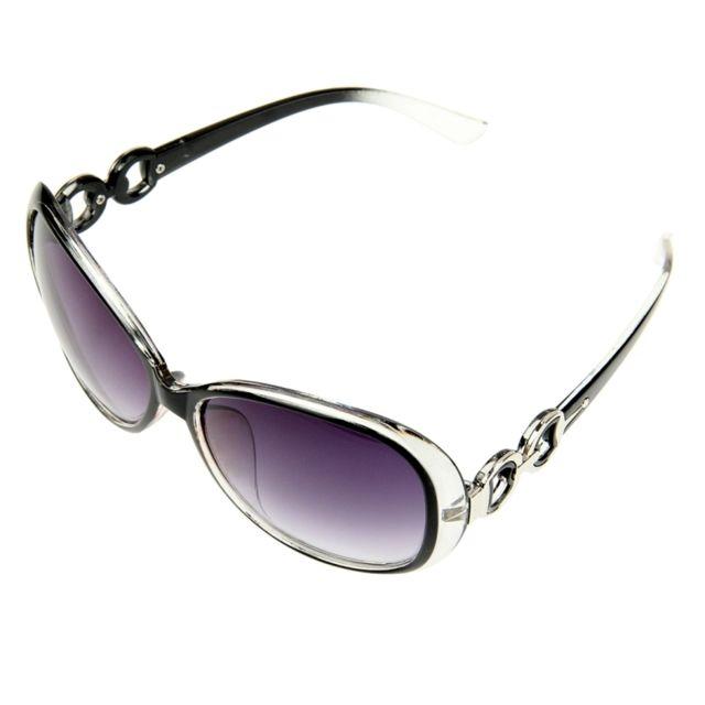 Wewoo - Lunettes pour femme noir Retro Uv400 Uv Protection Pc Cadre Ac Lens  Lunettes de 9b24f86ae311