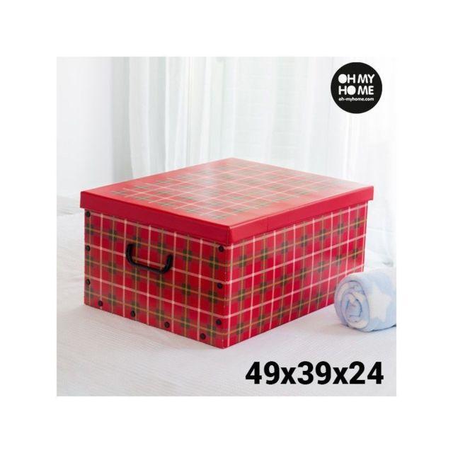 my home bo te de rangement en carton avec couvercle et. Black Bedroom Furniture Sets. Home Design Ideas