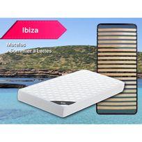 Altobuy - Ibiza - Pack Matelas + Lattes 90x200