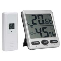Perel - Thermomètre / Hygromètre Sans Fil - Grand Afficheur