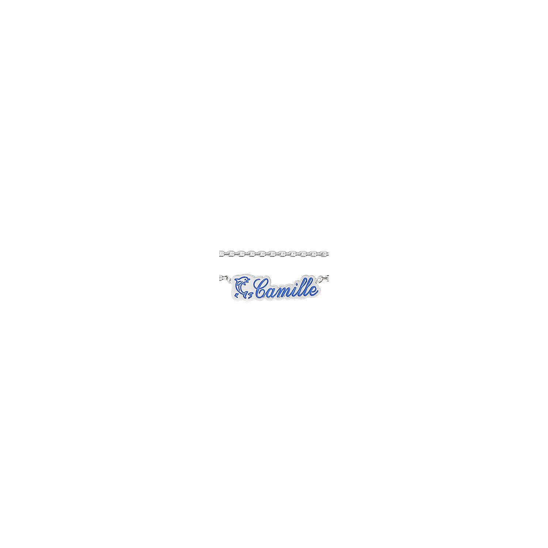 8e6a3b1b537 1001BIJOUX- Collier argent avec prénom et logo découpé