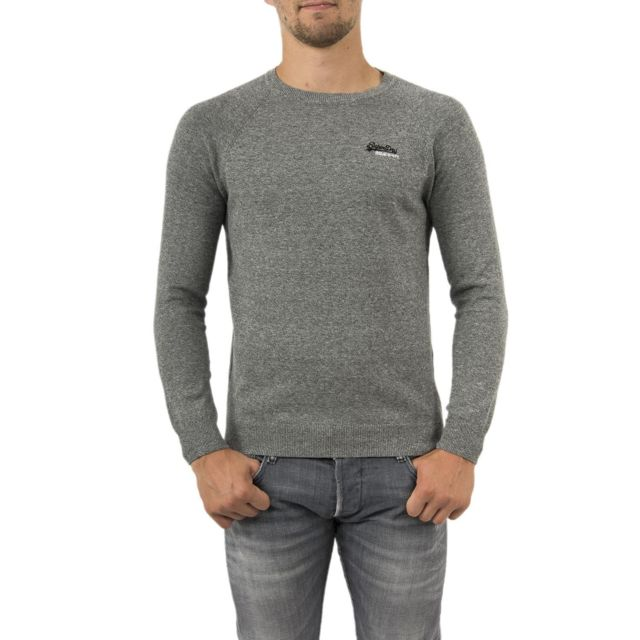 pull hiver superdry m6100025a rouge