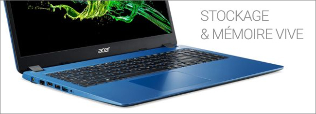 Acer Aspire 3 A315 - Stockage