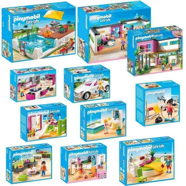 Playmobil - Pack complet Villa Moderne - pas cher Achat ...