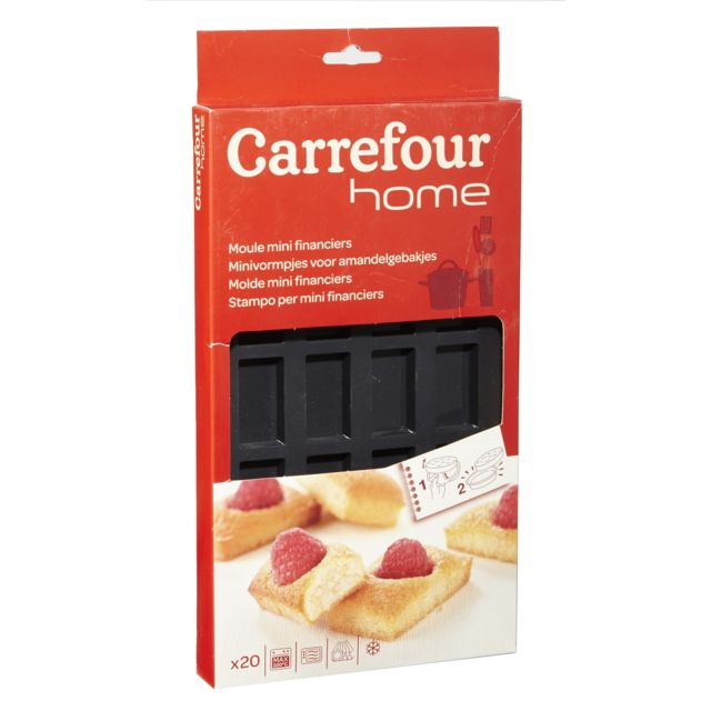 CARREFOUR , Plaque de 20 moules à mini financiers , Silicone