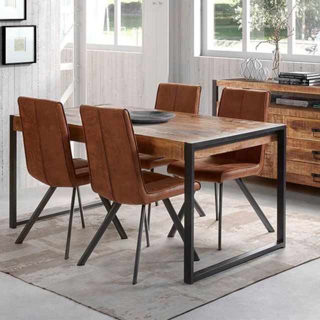 Nouvomeuble Table 140 cm en manguier massif Mangoway