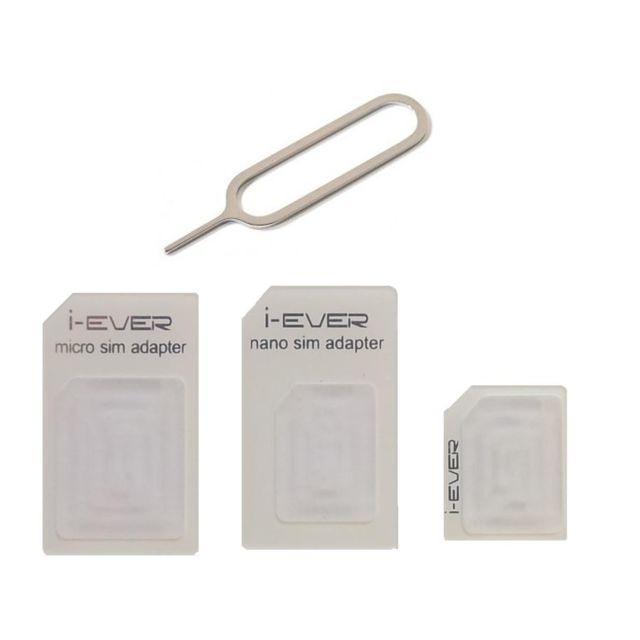 mygoodprice adaptateur de carte sim 3 en 1 pour micro et nano sim 50 lots pas cher achat. Black Bedroom Furniture Sets. Home Design Ideas