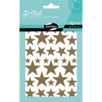 Maildor - Stickers Initial 4 planches : Etoiles : Or et argent