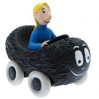 Plastoy - Figurine Barbamobile Barbouille et Claudine - Barbapapa