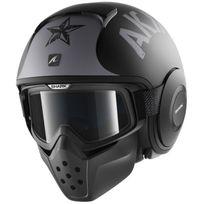 Shark - casque jet moto scooter Drak Raw Soyouz Ksk noir gris mat M