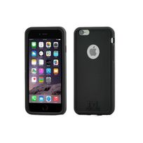 Mols - Shockproof Backcase Black + Screen Protector Apple Iphone 4/4s