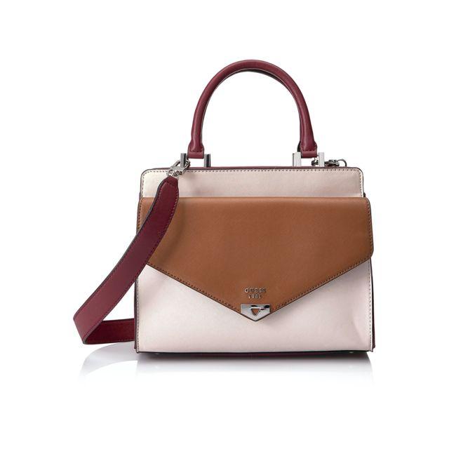 310304726e6c Guess - Sac Besace Lottie Stone Multi Multicolore - pas cher Achat   Vente  Sacs à main - RueDuCommerce