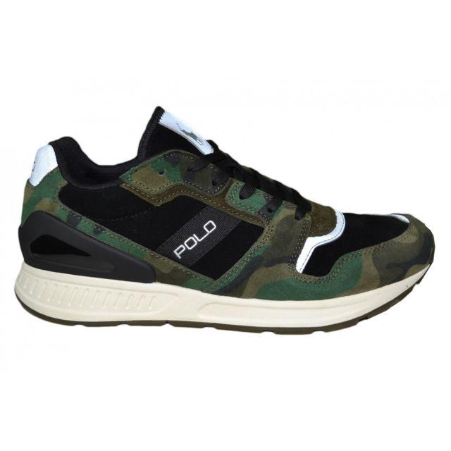 57a1aa71cc27 Ralph Lauren - Baskets basses vert camouflage pour homme - pas cher Achat    Vente Baskets homme - RueDuCommerce