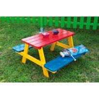 Dedans Dehors - Table de pique nique en bois pour enfants Fourmi