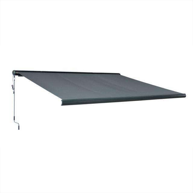 alice 39 s garden store banne lectrique ombrec 4x3m gris. Black Bedroom Furniture Sets. Home Design Ideas