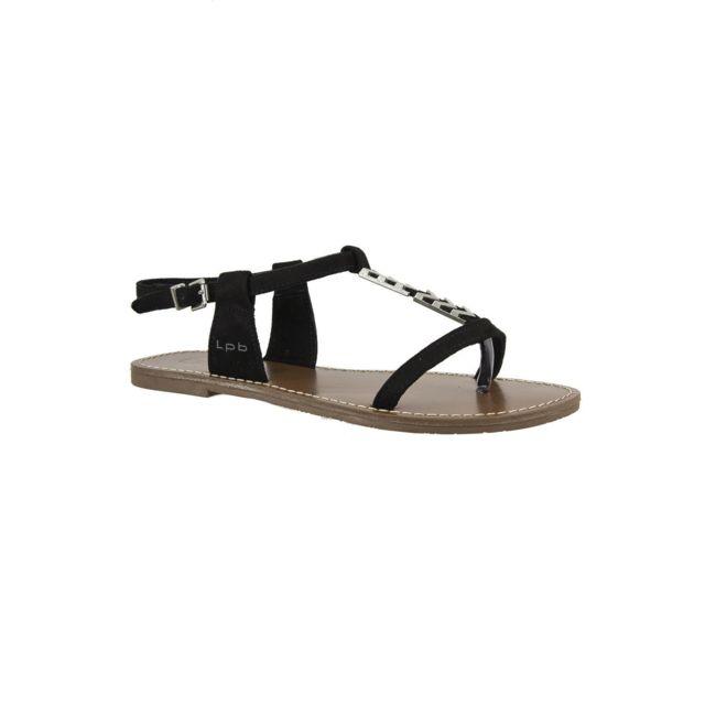 Lpb - sandales - nu pieds petunia noir - pas cher Achat   Vente ... 04c0733bb3e0