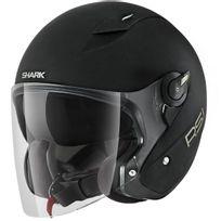 casque jet moto scooter en Fibre Rsj Blank Kma noir mat S