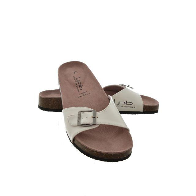 Les P tites Bombes - sandales - nu pieds opaline blanc 35 - pas cher Achat    Vente Sandales et tongs femme - RueDuCommerce a024a888843d