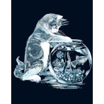 Le P'TIT Createur - Tableau Scraper à gratter Le chat pêcheur argenté - Le p'tit créateur