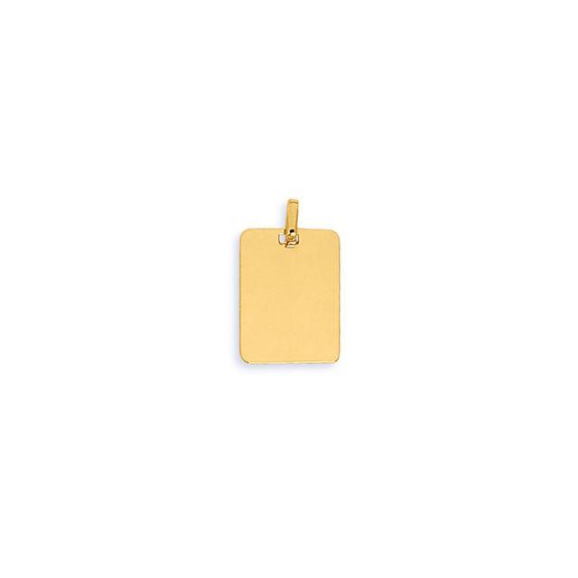 Brillaxis Pendentif plaque rectangle or jaune