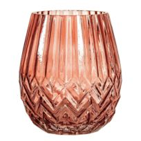 Bloomingville - Vase en Verre 17 cm Terracotta