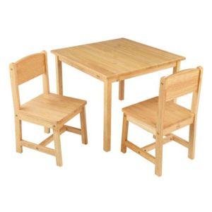 kidkraft table et chaises enfant en bois bois clair. Black Bedroom Furniture Sets. Home Design Ideas