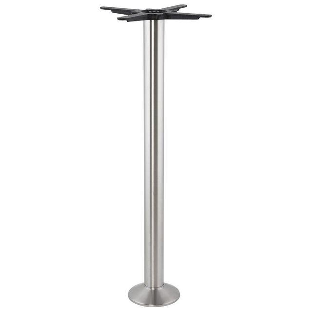 Alterego Pied de table 'PIKET' 110 cm en métal brossé à base ronde