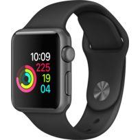 Apple - Watch 1 38 - Alu noir / Bracelet Sport noir