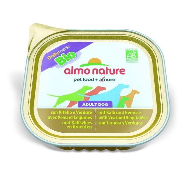 Almo Nature Chien Adult Bio Organic maintenance Veau et Légumes - Barquette