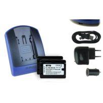mtb more energy® - 2 Batteries + Chargeur USB, Vw-vbk180 pour Panasonic Sdr-s45, S50, S70, S71, T50