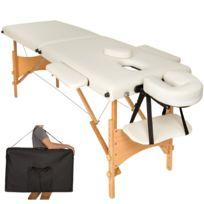 Transport Massage BeigeHousse Zones Pliante 2 Bois Portable Table De 8OnyPmN0vw