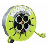 Luceco - Enrouleur électrique - câble - multiprises - nomade - Pro Xt - 8 m