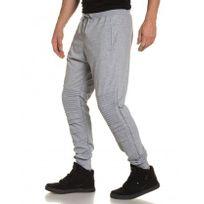 BLZ Jeans - Pantalon jogging gris molleton homme