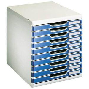 exacompta module de classement modulo 10 tiroirs bleu pas cher achat vente bo tes d. Black Bedroom Furniture Sets. Home Design Ideas