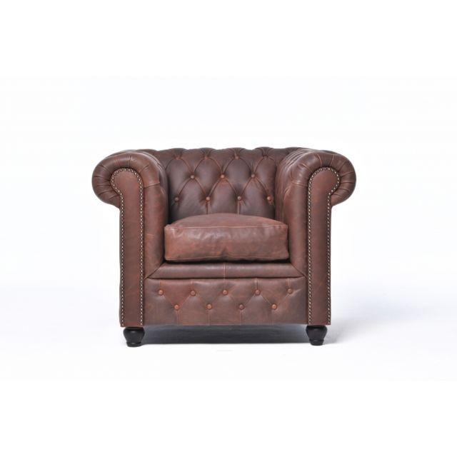 Chesterfield Vintage Fauteuil Brun